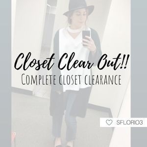 It's CLOSET CLEAR OUT!